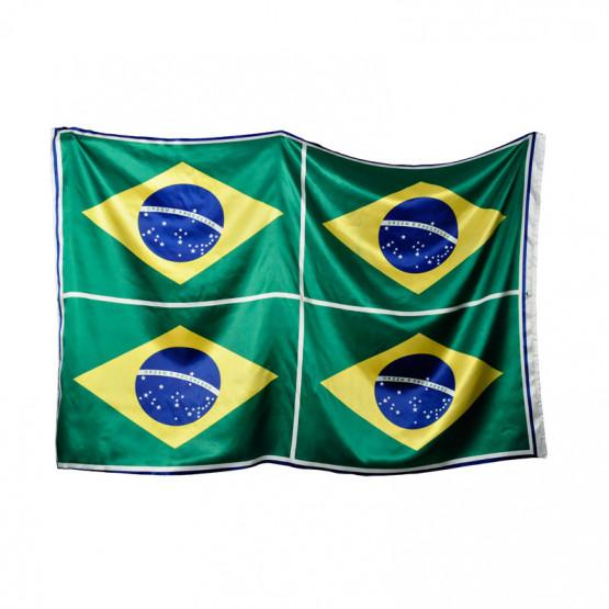 Tecido Cetim Bandeira do Brasil (Quadro 0,97cm x1,50mt ) c/4 Bandeiras -100%Poliester - Preço por Quadro - para cortar e costurar