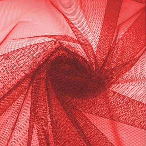 Tecido Filó para Armação Vermelho Larg. 300cm 100% Poliamida