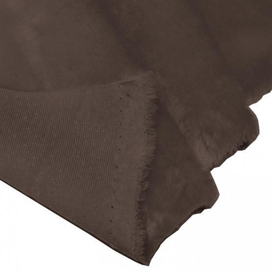 TECIDO PELUCIA DIAMANTE 12MM CHOCOLATE L1,55 BS100%Poliester SUP70%Poliester.30%Acrilico