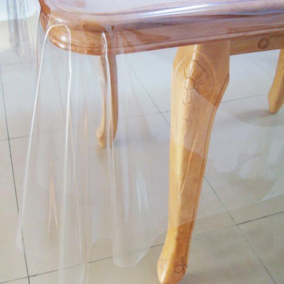 Plástico Transparente Cristal 0,15mm p/ Toalha de Mesa Lg.140cm - venda por metro