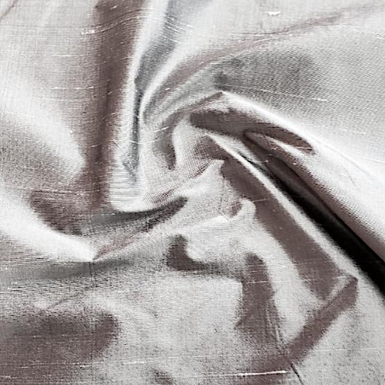 Tecido Shantung Seda Pura Cinza Larg 140cm 100%Seda  Conserv1-P/2-2/3-3/5-3/4-1/6-1