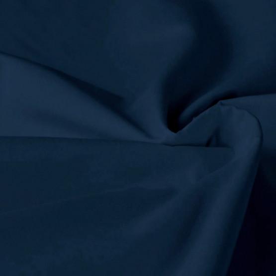 Tecido Tricoline Poly Cotton Elastano Marinho 58% Algodao 38% Poliester 4% Elastano Larg. 140cm 160grm